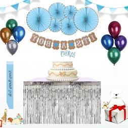 Baby Shower Decorations for Boys Party Supplies Banner Ballo