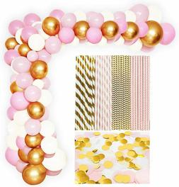 Baby Shower Decorations for Girl Balloon Garland Arch Pom Po