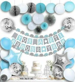 RainMeadow Premium Baby Shower Decorations for Boys Kit | It
