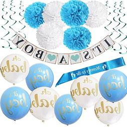 Baby Shower Party Decorations Kit 22 Pieces It's A Boy BLUE
