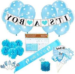 Baby Shower Party Decorations Kit: ItS A Boy Blue Theme Welc