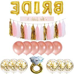 Bachelorette Party Decorations Pack Includes: Gold Foil Brid