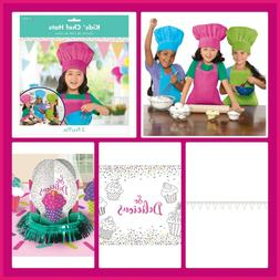 BAKING PARTY Decorations Supplies Chef Hat Kids Aprons Banne