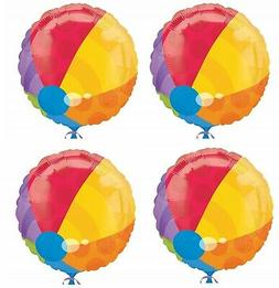 "18"" Beach Ball Shape Mylar Balloon - Mylar Balloon Foil"