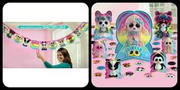 Beanie Boo's Party Decorations Lot of 2: Birthday Banner & T