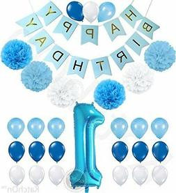 1st birthday boy decorations kit - beautiful boy colors for