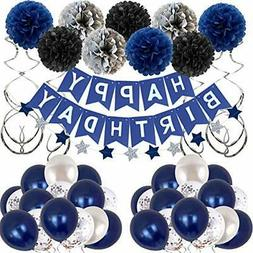 Birthday Decorations Men Blue Birthday Party Decorations for
