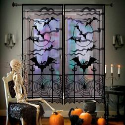 Black Lace Bat Halloween Props Party Scary Indoor Decoration