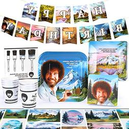 Bob Ross Classic Party Supplies Set | Themed Decorations and