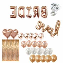 Bridal Shower & Bachelorette Party Decorations kit Rose Gold