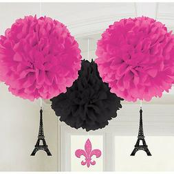 BRIDAL SHOWER Day in PARIS FLUFFY DECORATIONS  ~ Party Suppl