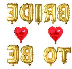 Ruimeier Bride to BE Gold Balloons Banner Set and 2 Pieces R