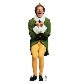 Advanced Graphics Buddy the Elf Excited Life Size Cardboard