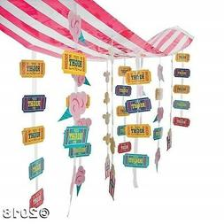 CARNIVAL Circus Big Top Tent Party Decoration Dangling STRIP