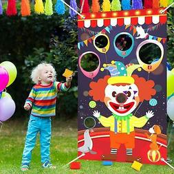 Carnival Circus CLOWN Bean Bag Toss Game BIRTHDAY PARTY Deco