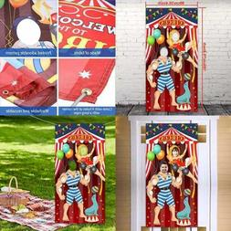 Carnival Circus Party Decoration Photo Door Banner Backdrop