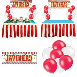 Carnival Circus Party Supplies Decorations RED & WHITE Strip
