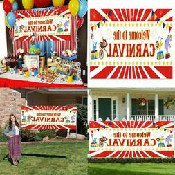 Carnival Party Backdrop Banner 2019 Circus Birthday Supplies