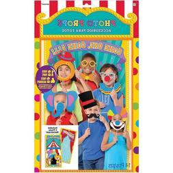 CARNIVAL Photo Booth Props Kit Party CLOWNS Decorations Back