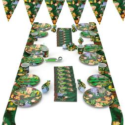 Cartoon Jungle Animal Disposable <font><b>Party</b></font> T