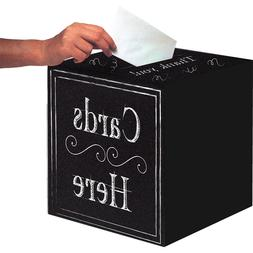 Chalkboard Card Box Personalize Grad Anniversary Wedding Sho