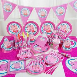 Peppa Pig  Children's Birthday Party Supplies Banners , cups