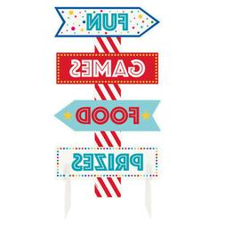 Circus Carnival Party Sign Centerpiece Table Decoration Game