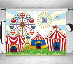 LB 7X5ft Circus Carnival Party Vinyl Photography Backdrop fo
