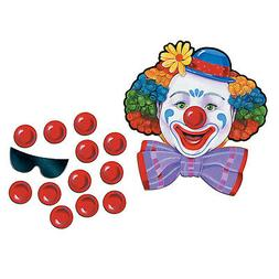 CIRCUS CARNIVAL PIN THE NOSE ON THE CLOWN birthday party gam
