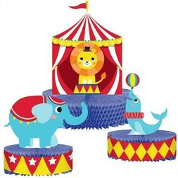 Circus Party Honeycomb Shaped Centerpiece Set 1st Birthday P
