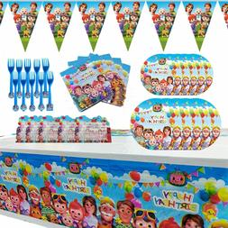 Cocomelon Party Supplies for Kids' Birthday Decoration Set