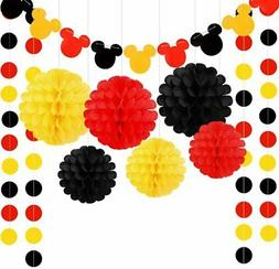 Colorful Party Supplies Yellow Black Red for Mickey Minnie B