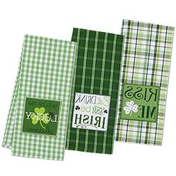 "DII Cotton Holiday Dish Towels, 18x28"" Set of 3, Decorative"
