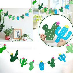 Craft Cactus Paper Creative Bunting Hanging Decor Party Supp