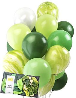 Designed Forrest Green Agate Latex Marble Balloon Party Deco