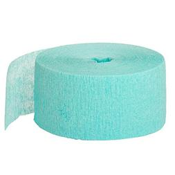 Crepe Paper Streamers, 81 Feet, Sea Foam