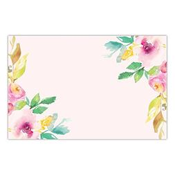 DB Party Studio Paper Placemats Floral 25 Pack Pink Watercol