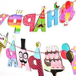 Decoration Happy Party Banners Garland Party Flags for Child