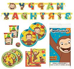 Deluxe Curious George Children's Birthday Party Supplies Pac