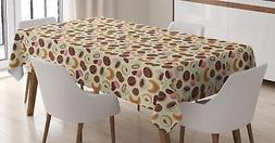 Dessert Tablecloth Ambesonne 3 Sizes Rectangular Table Cover