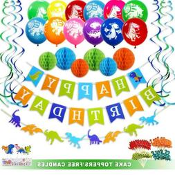 Dinosaur Birthday Party Decorations Supplies Happy Banner Ga