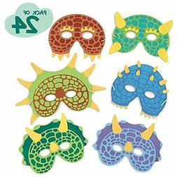 Dinosaur Birthday Party Favors Supplies 24 Masks - Masquerad