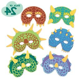 Dinosaur Birthday Party Supplies: 24 Dinosaur Party Masks -