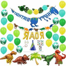 Dinosaur Birthday Party Supplies and Decorations for Kids, B