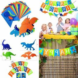 Dinosaur Happy Birthday Banner Kids Party Supplies Decoratio
