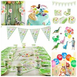 Dinosaur Party Decorations Set Kids Birthday Favor Green Tab