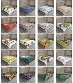 Ambesonne Dinosaur Party Flat Sheet Top Sheet Decorative Bed