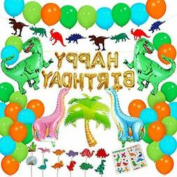Dinosaur Party Packs Supplies - 90 Pcs For Birthday Decorati