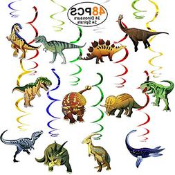 Dinosaur-Party-Supplies-Birthday-Decorations 48 PCS Hanging