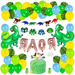 Dinosaur Party Supplies Dino Birthday Decoration Set For Kid
